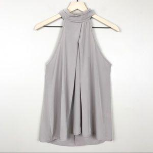 Francesca's Alya Size L High Neck Halter Blouse